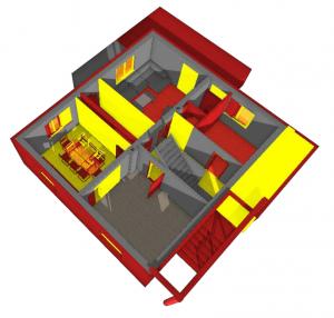 Rénovation : Existant, a demolir, nouveau